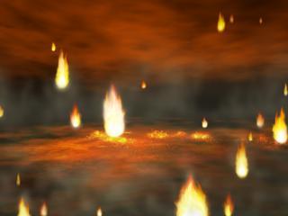 обои Огненный дождь фото