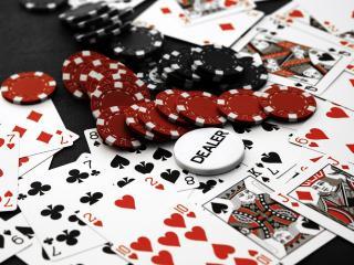 обои Карты,  покер,  фишка дилера фото