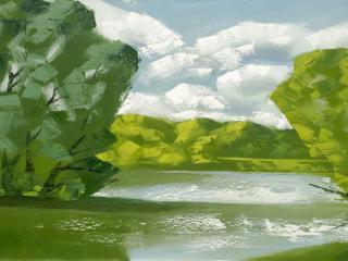 обои Весенняя река фото