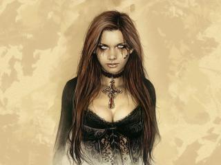 обои Портрет темной девушки фото