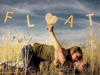 обои Поцелуй в поле фото