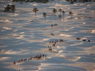 обои Пустыня Сахара с высоты птичьего полёта фото