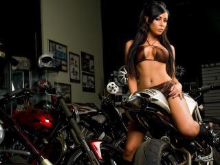 обои В музее мотоциклов фото