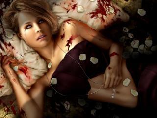 обои Кровавая девушка фото