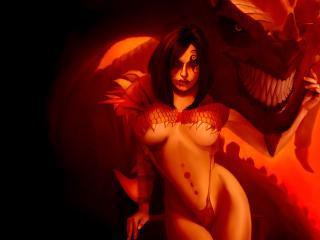 обои Распутная любовница дьявола фото