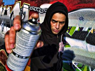 обои Процесс создания граффити фото