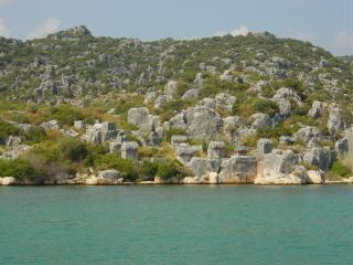 обои Турция,  окресности городка Кекава,  кладбище,  так когдато хоронили моряков фото