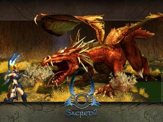 обои Серафим и дракон фото