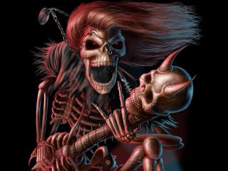 обои Вооруженный скелет фото