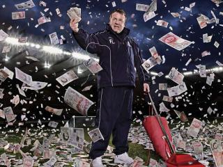 обои Футбольный тренер и денежный дождь фото