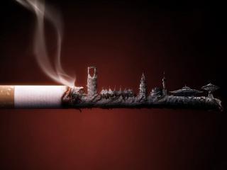 обои Причудливый пепел сигареты фото