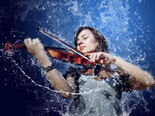 обои Соната для скрипки и фонтана фото