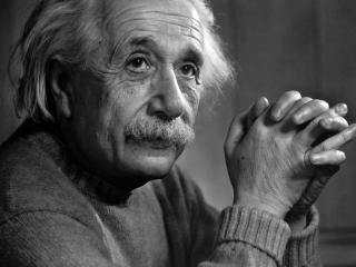 обои для рабочего стола: Альберт Эйнштейн в свитере