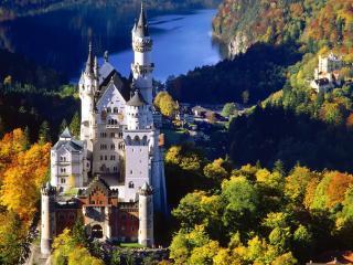 обои Замок на озере фото