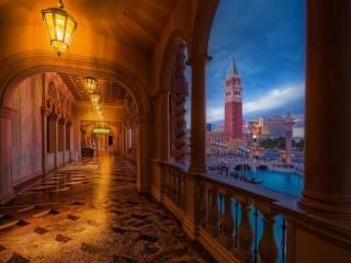 обои Освещенный коридор фото