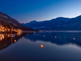 обои Маленькая вечерняя пристань фото
