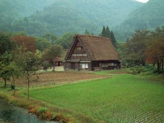 обои Япония Дом Фудзи фото