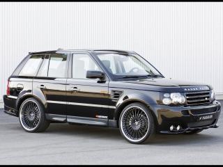 обои Спортивный Range Rover Sport на черных дисках фото