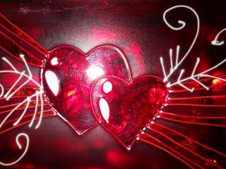 обои Стеклянное сердце фото