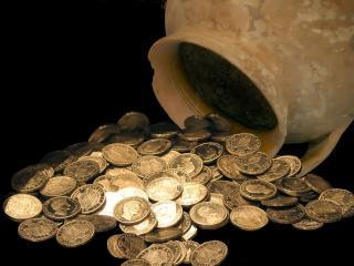 обои Горшочек с монетами фото