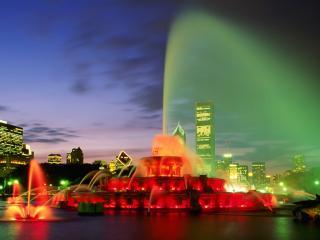обои Фантастический фонтан фото