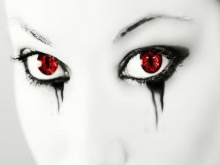 обои Кроваво-красные глаза фото