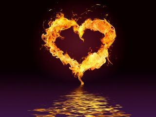 обои Огненное сердце фото