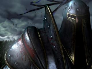 обои Окровавленный воин из Warcrafta фото