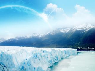 обои Голубые льды фото