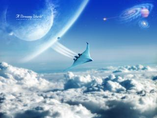 обои Самолет над облаками фото
