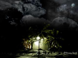обои Оазис света среди грозной тьмы фото