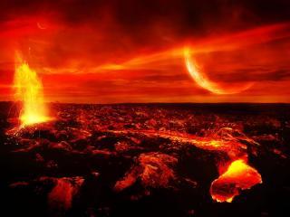 обои В кратере вулкана фото