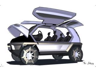 обои 2008 Magna Steyr Alpin Concept двери фото
