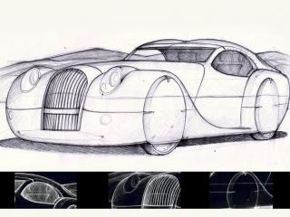 обои 2008 Morgan LifeCar Concept эскиз фото
