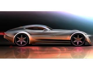 обои 2010 Morgan EvaGT Concept красный бок фото