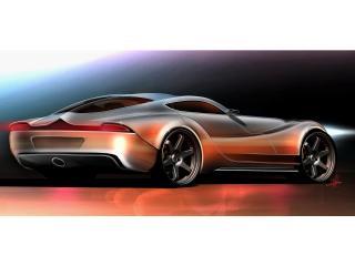обои 2010 Morgan EvaGT Concept красный зад фото
