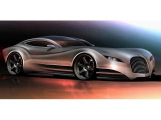 обои 2010 Morgan EvaGT Concept красный передок фото