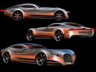 обои 2010 Morgan EvaGT Concept черный эскиз фото