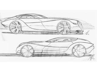 обои 2010 Morgan EvaGT Concept эскиз фото