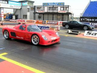 обои 2006 Ultima GTR - Quarter Mile Run red фото