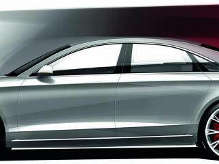 обои 2011 Audi A8 бок эскиз фото