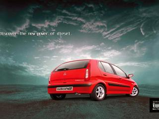обои Tata Indica V2 Turbo сзади фото