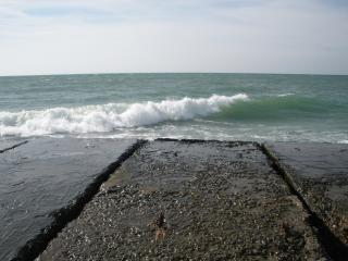 обои Море в Железном порту и волнорез фото