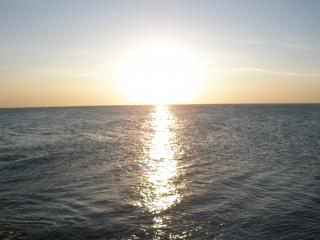 обои Закат на море (база отдыха Приморье - Железный Порт) фото