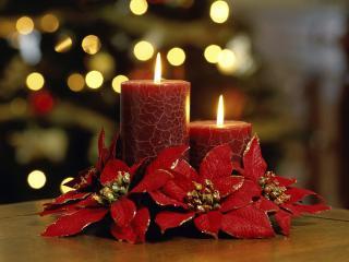 обои Большие праздничные свечи фото