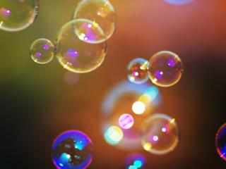 обои Радужные мыльные пузыри фото