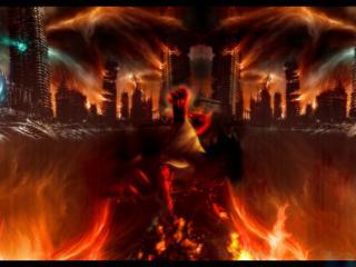 обои Город в аду фото