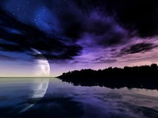 обои Отражение звездного неба фото