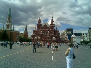 обои Красная Площадь - толпы народа фото