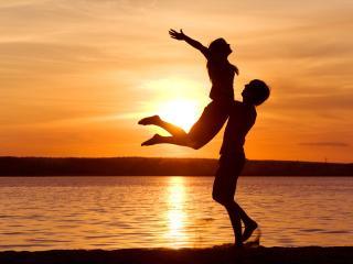 обои Танец на закате фото